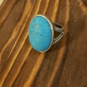 Turquoise Ring , antique